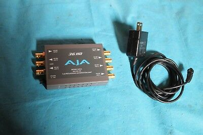 AJA 3GDA 1x6 3G/HD/SD Reclocking Distribution Amplifier Mini Converter (3GDA)