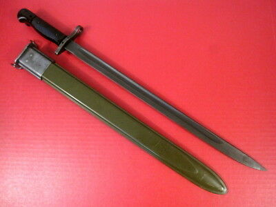 Vietnam Era US Army M1917 Bayonet & Scabbard for Military Trench Shotgun XLNT #2