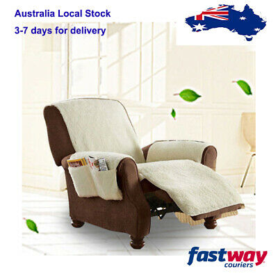 Sofa Snuggle Up Recliner Poly Fleece Comfort Chair Seat Cover Snuggle Up Cover