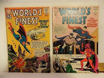 DC Comics Vintage Silver Age WORLDS FINEST 2 ISSUE LOT 1962, 1963