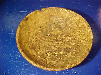 Early 19thc PRIMITIVE SMALL Size WOODEN Ash BURL BOWL 5""
