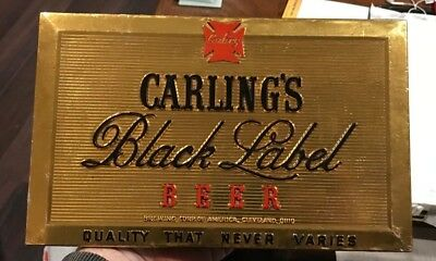 Vintage Carling Black Label Beer Composition Sign Cleveland Oh Ohio