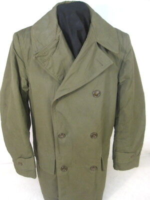 WWII US Army Mackinaw Cold Weather Coat - 3rd Pattern - Sz: 36 Dated 1945 - XLNT