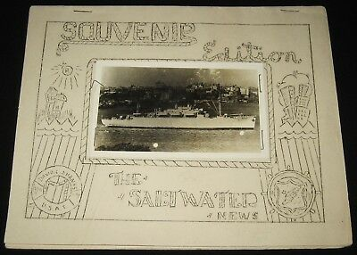 Original USAT DAVID C. SHANKS ARMY SHIP Final Edition SALTWATER NEWS Philippines