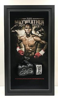 Floyd Money Mayweather Hand Signed Framed Boxing Glove Mcgregor Ali Tyson