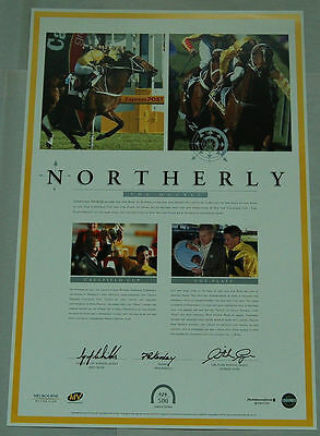 Northerly Double Cox Plate Hand Signed Payne Childs Kersley Limited Print Winx