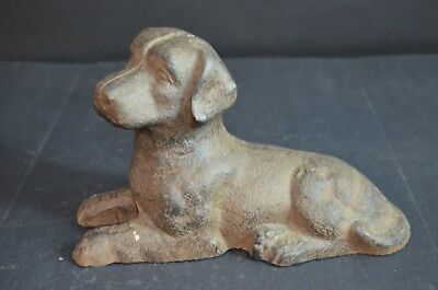 Antique Cast Iron Dog Door Stop Vintage Mint Nr Pre War Collectible Estate Find
