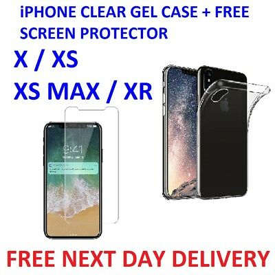 iPhone X XS XS Max XR Ultra Slim Shockproof Silicone Protective Case Cover
