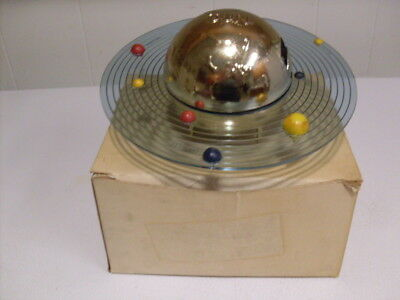 "Rare Mint 1960's Gold Chrome Spin Around ""PLAN-It BANK"" W/Box-Key & Instructions"
