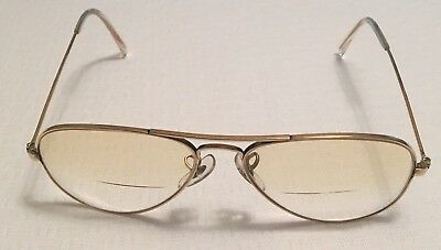 B&L Ray Ban USA 1/10 12K Gold Filled Vintage Aviator Gold Prescription Glasses