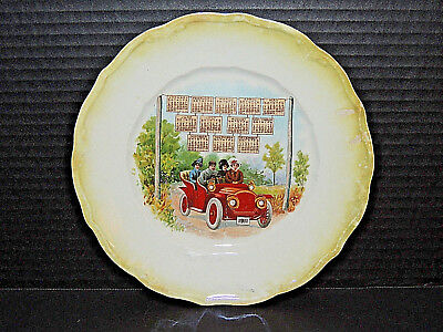 Antique 1911 Calendar Plate, 1911 Ford Convertible Car, Auto - Unadvertised