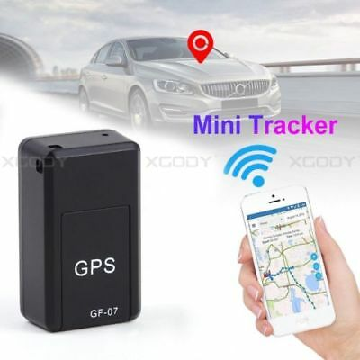 Magnetic GF-07 SPY GPS Tracker Real Time Tracking Locator Device GSM GPRS Black
