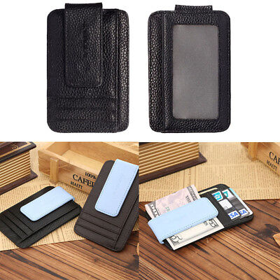 New Mens Leather Wallet Money Clip Credit Card ID Holder Front Pocket Thin Slim