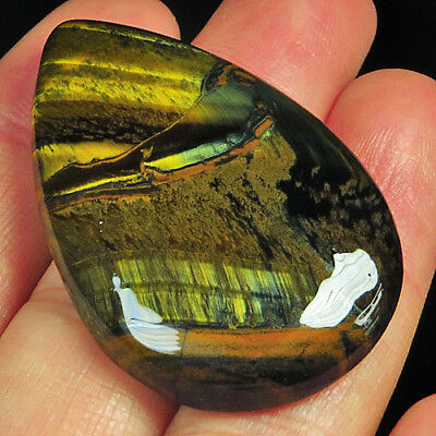 62.1Ct 100% Natural African Yellow Blue Tigereye Cab MSHY517