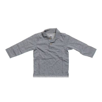 The Children's Place Boys Long Sleeve Polo Shirt, size 4/4T,  grey,  cotton