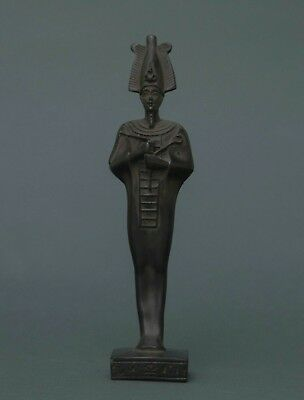 EGYPTIAN ANTIQUES STATUE OSIRIS Lord Pharaoh Gods EGYPT Black Carved Stone BC