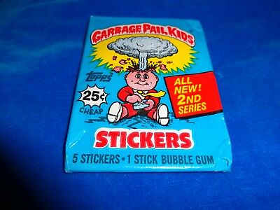 1985 Garbage Pail Kids Series 2 Wax Pack from Box! Original Series