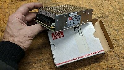 New Mean Well Rd-654B Power Supply 100-240Vac Input  Dual Output 5V 4A, 24V 2A