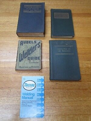 Vintage Lot 1940's Welding Books Audels Welded Steel Pipe Arc Welding Procedure