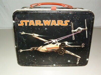 1977 Thermos Brand  Tin-Litho  ( Star Wars  ) Lunchbox