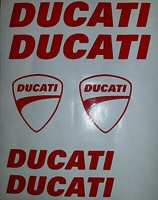 Ducati SET Aufkleber in Rot !!Top