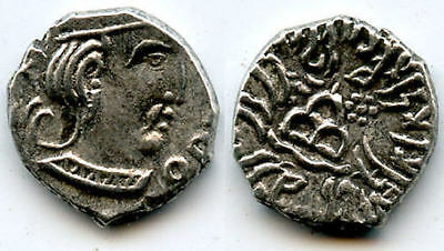Nice! Silver drachm of Rudrasena III (348-378 AD), Western Satraps in India