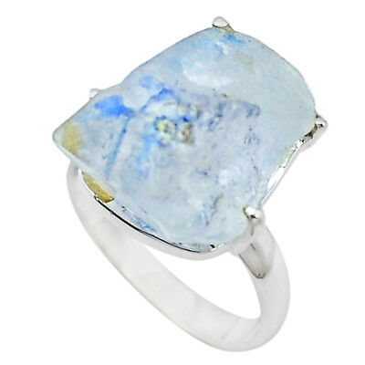 Natural Blue Dumortierite 925 Sterling Silver Ring Jewelry Size 7 M58909