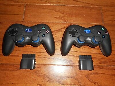 2 Logitech Wireless PS2 Controllers with receivers - Sync problem playstation 2