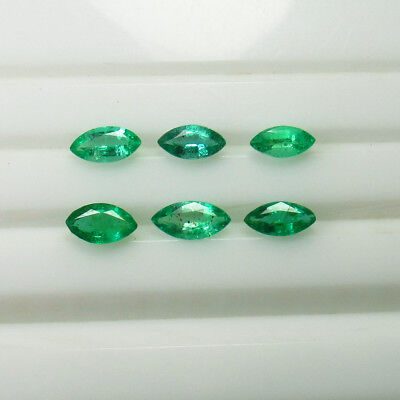 "1.55 Ct - Natural Emerald Pair ""vvs"" Luster Green Nice Marquise Cut - Zambia"
