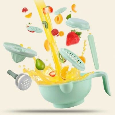 9 in 1 Food Masher Portable Baby Feeder Food Processor Smasher Bowl Food Grinder