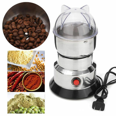 Electric Coffee Grinder Burr Mill Fresh Beans Spices Nuts Stainless Steel Blades
