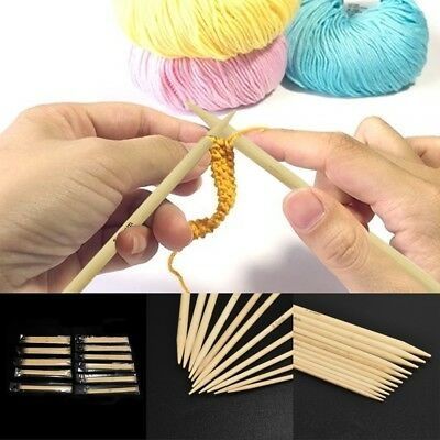 55Pcs/Lot Double Pointed Bamboo Knitting Needles Sweater Glove Knit Tool Useful