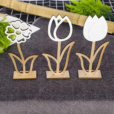 2019 Easter Wooden Hollow Out Flower Easter Home Party Hot Table Decor Favors