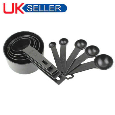 10pcs Plastic Measuring Cups and Spoons for Baking Tea Coffee Kitchen Tools A+
