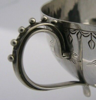 UNUSUAL CHINESE JAPANESE SOLID SILVER CUP c1900 BEAUTIFUL ANTIQUE