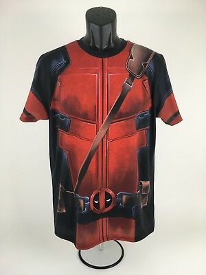 MARVEL DEADPOOL Black Graphic Body Armor Tee Shirt by we love fine Size L