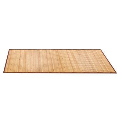 Bamboo Floor Mat Bathroom Rug Wood Natural Mocha Non Skid Home Decor