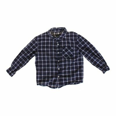Cherokee Boys Plaid Button-up Shirt, size 5/5T,  blue/navy, yellow, white