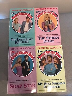 4 Sweet Valley High Books 79, 84, 85 & 87 By Francine Pascal