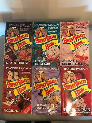 6 Sweet Valley High Books 99, 100, 107, 108, 110 & 130 By Francine Pascal