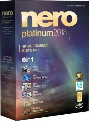 Nero Platinum 2018 Suite Lifetime License FULL Activation - Digital Download
