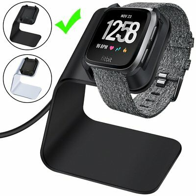 New CAVN Fitbit Versa Aluminum Charger Dock, Charging Cable Stand Cord Station