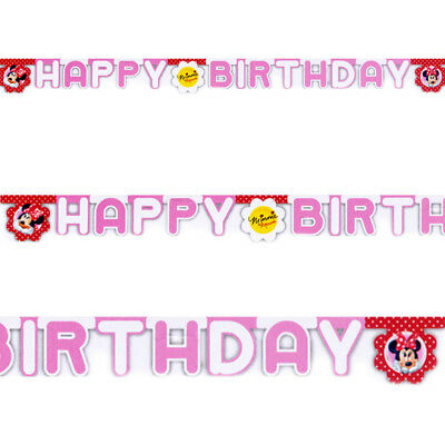 7ft Minnie Mouse Polka Dots Happy Birthday Letter Banner Party Decoration