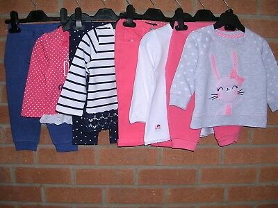 GEORGE EARLY DAYS Girls Bundle Joggers Trousers Tops Jumpers Age 9-12m