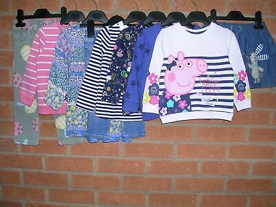 NEXT GAP PEPPA PIG etc Girls Bundle Dresses Tops Jeans Age 18-24m