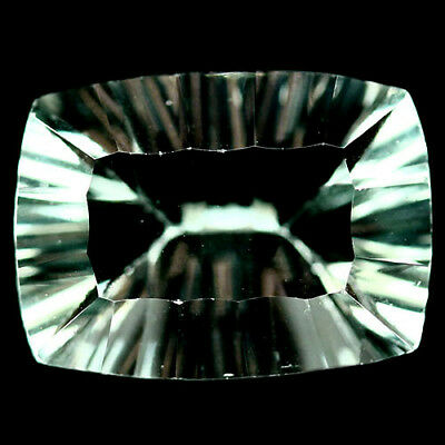 10.39 Ct Aaa! Natural! Green China Fluorite Concave Cushion