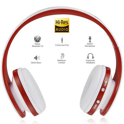 Foldable Wireless Bluetooth Stereo Headphone Game Headset Hands-free W/ Mic T1X7