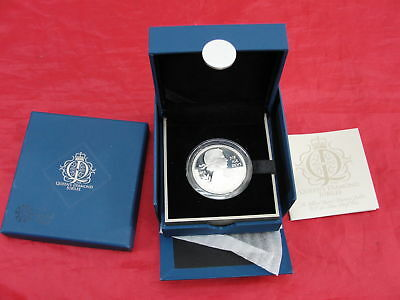 2012 Royal Mint Queen's Diamond Jubilee 5 Pound Silver Proof Coin Box & Coa