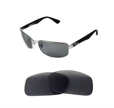 b2f1afbcb0 POLARIZED GREY ANTI REFLECTIVE REPLACEMENT LENS FIT RAY BAN 3527 61mm  SUNGLASSES