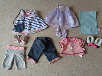 Zapf Creation Baby born doll clothes shoes bundle